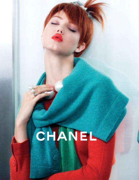 Spunky Boarding School Campaigns - The Chanel Campaign Screams Good Girl Gone Bad