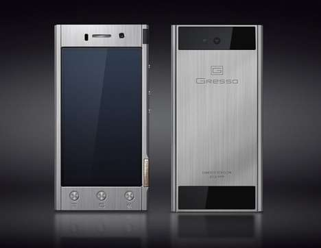 Lasting Titanium Smartphones - The Gresso Radical Has a Strong and Extremely Durable Titanium Body
