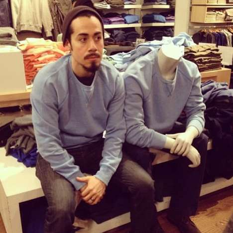 Mannequin Outfit-Matching Blogs - Steve Venegas Captures Himself in the Same Outfit as Mannequins
