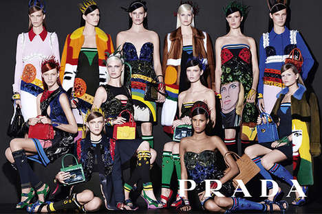Wearable Art Apparel - Prada's Spring Campaign Boasts Colorful and Artistic Fashion Staples