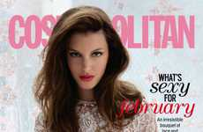 Carefree Floral Party Editorials - The Cosmopolitan Issue Boasts Beauty & Free Spirit