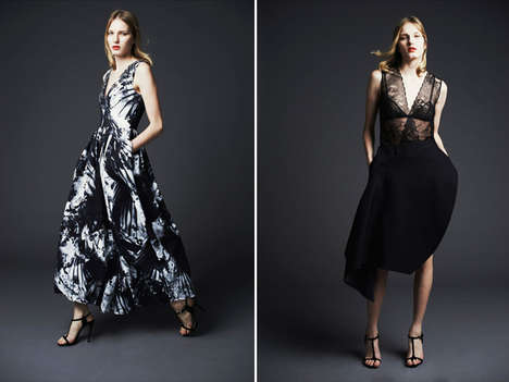 Moody Floral Eastern Collections - The Preen Pre-Fall 2014 Collection Brings in Asian Florals