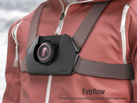 Strap-On Sports Cameras - The Evoflow Camera Enables Quality Hands-Free Recording of Your Activities