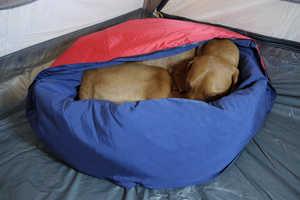 Noblecamper's Camping Dog Bed Keeps Pets Warm During Frigid Nights Outside