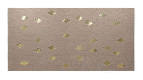 Brass Diamond Floor Coverings - This Diamond Carpet Combines Metal and Wool