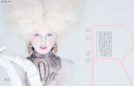 Whimsical Baroque Editorials - The Marie Claire China January 2014 Photoshoot Stars Ali Stephens