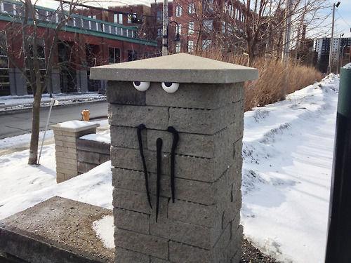 Googly-Eyed street art