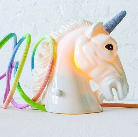 Fantasy Horse Rainbow Lighting - This Unicorn Light From Earth Sea Warrior Will Make Your Room Magic