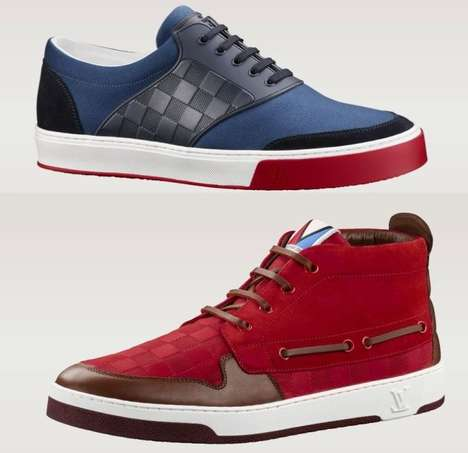Posh Manly Monogrammed Sneakers - The Louis Vuitton SS 2014 Mens Sneakers Boast Posh Style