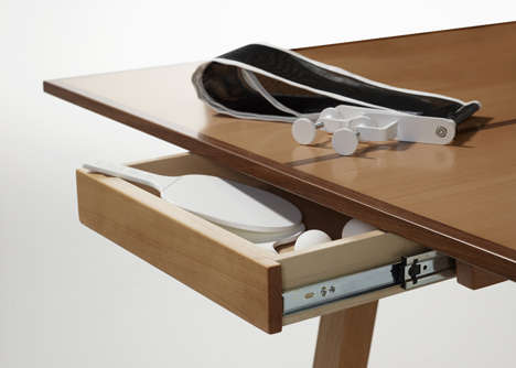 Playful Conference Tables - The Ping Table Lets You Hold Meetings Over Games of Ping Pong