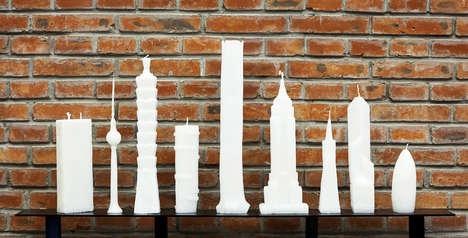 Worldly Landmark Candles - The Skyscraper Candles by Jing Jing Naihan Li Offer Waxy Skylines