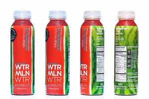 WTRMLN WTR Packaging Reshapes a Sweet Natural Treat Around a Bottle