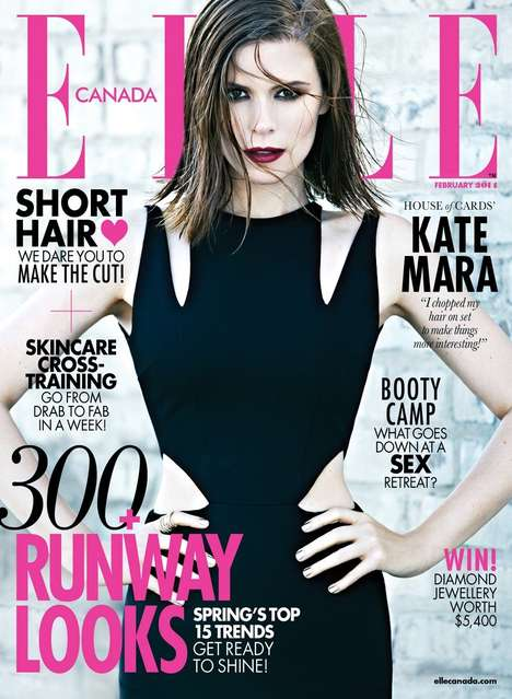 Sister-Channeling Celeb Editorials - The ELLE Canada February 2014 Cover Shoot Stars Kate Mara