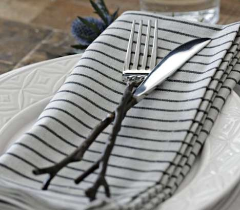 Rustic Tree-Like Utensils - Twig Flatware is the Perfect Way to Add Some Rustic Appeal to Your Table