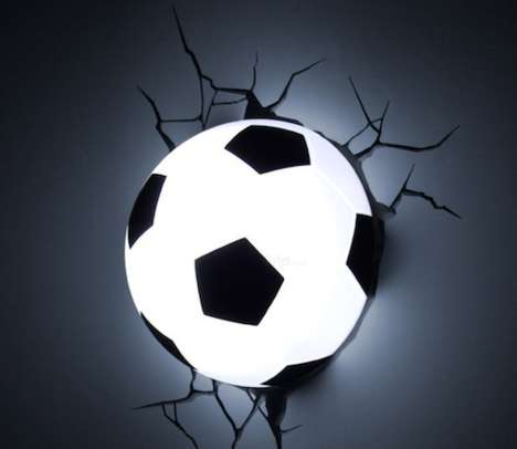 Playful Soccer-Inspired Lights - This Soccer Ball Lamp Will Brighten Up a Little Soccer Fan