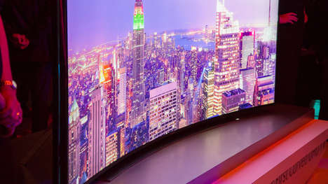 Bendable Television Screens - The Samsung U9000 SeriesCurved UHD Debut at CES 2014 is Bold
