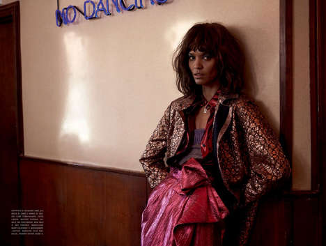 90s City Girl Editorials - Yelena Yemchuk Captured Liya Kebede for Vogue Italia January 2014