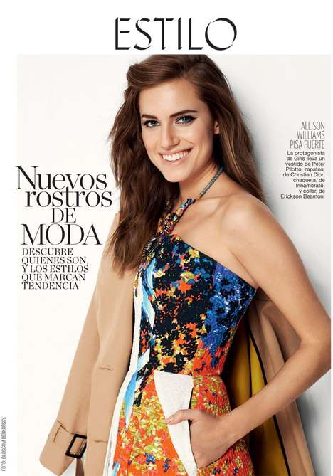 Refreshingly Vibrant Fashion - The Glamour Spain January 2014 Photoshoot Stars Allison Williams
