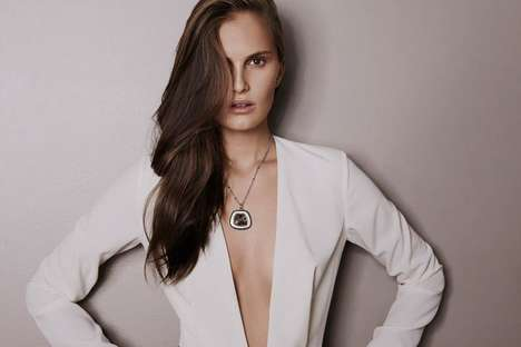 Raw Diamond Jewelry Ads - The Saqqara SS14 Campaign Stars Ukranian Model Alla Kostromichova