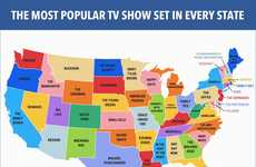 State-Focused TV Maps - This TV Show Map Highlights the Most Popular Show Set in Each State