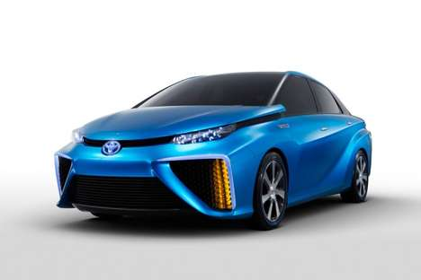 Hydrogen Fuel Cell-Powered Cars - Toyota Unveiled North American