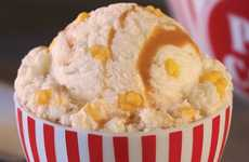 Delectable Movie Snack Desserts - Caramel Popcorn Ice Cream is Baskin-Robbins' Must Try Flavor
