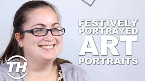 Festively Portrayed Art Portraits - Angela Critiques About Humorous Santa Classic Art