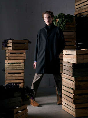 Naturally Blended Menswear - This Delikatessen Collection Features Unique Fabric Blends