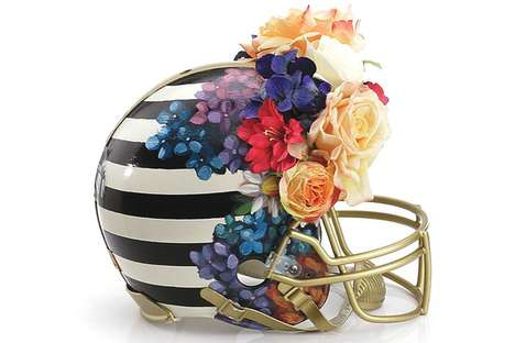 Haute Couture Football Helmets - CFDA Members Design Fashionable Sports Gear for the NFL Foundation
