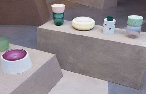 Whimsically Contrasting Objects - Foam and Glass by Roos Gompert is Designed for Dutch Invertual