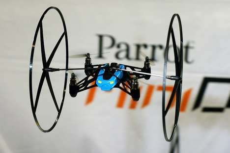 Minature Smartphone-Enabled Helicoptors - The Parrot Mini Drone Flys onto the Scene at CES 2014