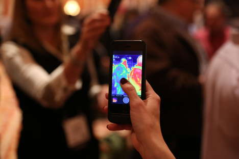 Night Vision Smartphone Cases - The FLIR One iPhone Case Debuted at CES 2014 & Navigates the Dark