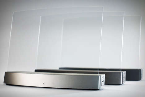Nearly-Invisible Sound Systems - The ClearView Clio Speaker is Made Using Acrylic Glass