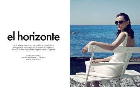 Ladylike Seashore Editorials - The ELLE Mexico January 2014 Photoshoot Stars Sibui Nazarenko
