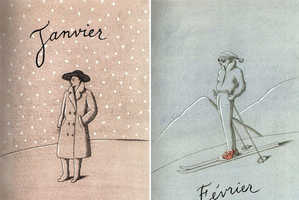 Artist Pierre Le-Tan Creates Chic 12-Month Drawings