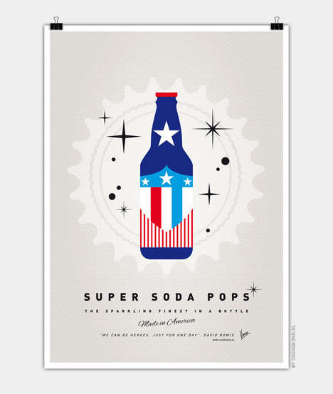 Superhero Soda Bottle Art - These Superhero Soda Pop Posters Offer an Enjoyable Perspective