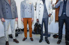 Understated Military Menswear - Hardy Amies' Latest Runway Collection is Elegantly Uniformed
