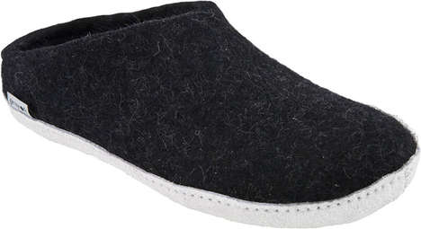 Cozy Wool Slip-Ons - The Glerups Slippers is Referred to as the Indoor Shoe