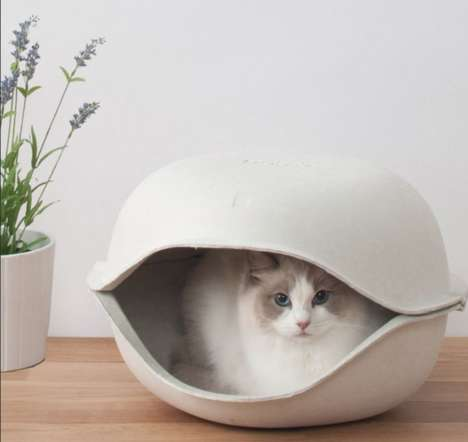 Stylish Cat Hideouts  - This Cat Bed From Oppa is Pet Furniture Complements Chic Decor