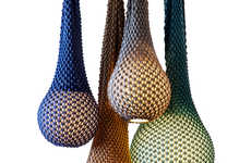 Chromatic Crocheted Lighting - These Knitted Lamps are Designed with Vibrant Wool Threads