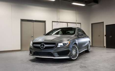 Expanded Touchscreen Dashboard Cars - The Mercedes-Benz CLA45 AMG's New Dash Launched at CES 2014