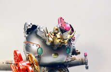 Menacing Robot Toy Illustrations