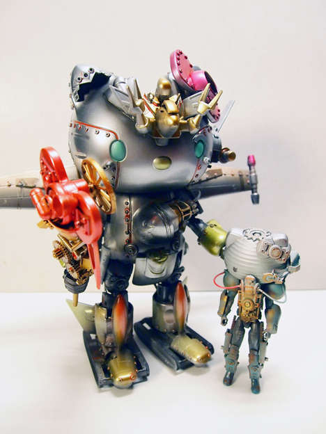 Menacing Robot Toy Illustrations - The Artist Aaron Liu Tranforms These Toys into Distructive Robots