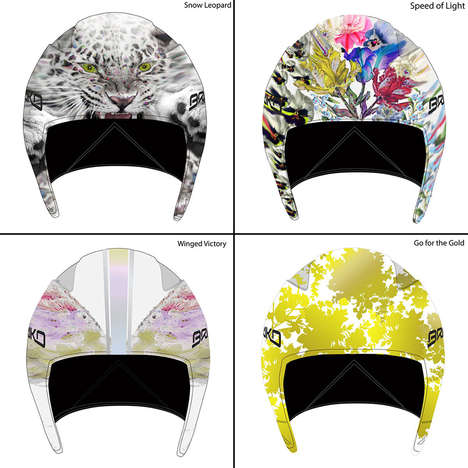 Crowdsourced Olympic Helmet Designs - Fans Voted for Lindsey Vonn Sochi Helmets by Cynthia Rowley