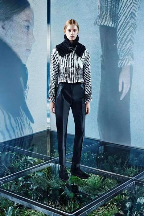 Foliage-Floored Lookbooks - The Balenciaga Pre-Fall 2014 Collection Focuses on
