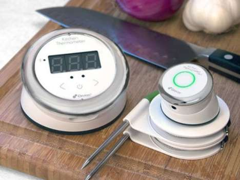 Digital Heat-Monitoring Cooking Aids - The iDevice Kitchen Thermometer Premiered at CES 2014