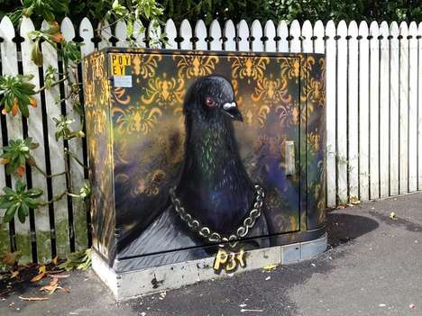 Graffitied Utility Boxes - Artist Paul Walsh Jazzes Up an Everyday Public Staple for Locals
