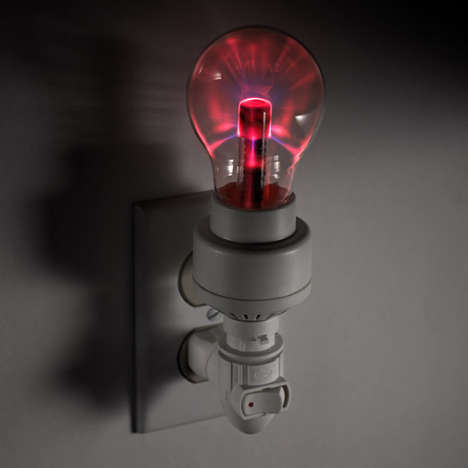 Mad Scientist Light Fixtures - Keep the Darkness at Bay with the Plasma Night Light