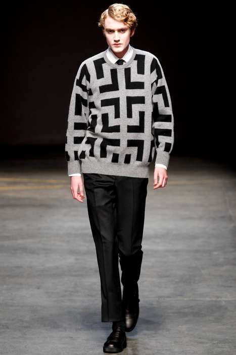 Block-Patterned Menswear - The E. Tautz Fall 2014 Collection is Adorned with Block Patterns