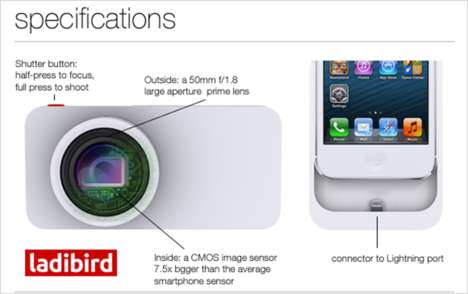 DSLR-Capturing Phone Cases - The Ladibird iPhone Camera Case Was Revealed at 2014 CES